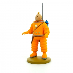 Figurine de collection Tintin en cosmonaute 15cm Moulinsart 42186 (2014)