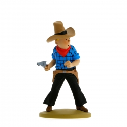 Figurine de collection Tintin en cow-boy 11,5cm Moulinsart 42191 (2015)