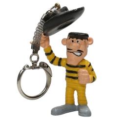Lucky Luke Schleich® keyring chain figurine - Joe Dalton saluding (1984)