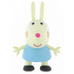 Figura de colección Comansi Peppa Pig, Conejo Rebecca 7cm (2013)