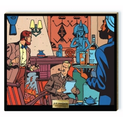 Collectible scene Akimoff Blake and Mortimer, in front of the fireplace (2020)