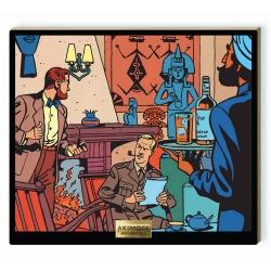 Tableau de collection Akimoff Blake et Mortimer, devant la cheminée (2020)