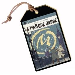 Etiqueta de viaje colección Akimoff Blake y Mortimer (La Marque jaune)