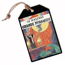Etiquette à bagage Akimoff Blake et Mortimer (Le Mystère de la Grande Pyramide)