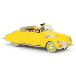 Coche de colección Tintín, el convertible amarillo de Haddock Nº02 1/24 (2020)