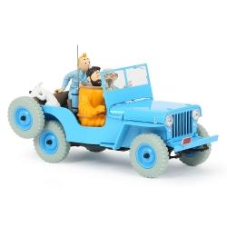 Coche de colección Tintín, la Jeep Azul CJ2A Objetivo la Luna Nº04 1/24 (2020)