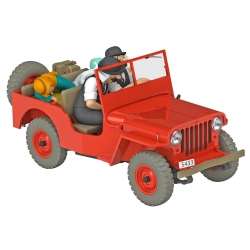Collectible car Tintin, the red Jeep Willys MB 1943 Nº06 1/24 (2020)