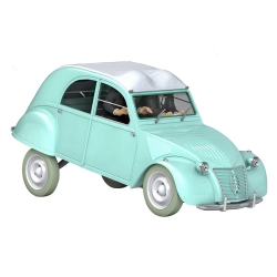 Coche de colección Tintín, la Citroën 2CV Hernández y Fernández Nº08 1/24 (2020)