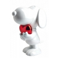 Collectible figurine Leblon-Delienne Peanuts, Snoopy red heart chromed (2020)