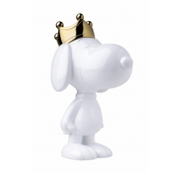 Figura de colección Leblon-Delienne Peanuts, Snoopy corona oro cromado (2020)