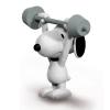 Peanuts Schleich® figurine, Snoopy Weightlifter (22075)