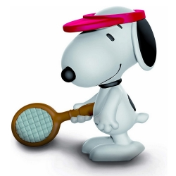 Peanuts Schleich® figurine, Snoopy Tennis player (22079)