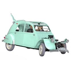 Voiture de collection Tintin, la Citroën 2CV accidentée Dupondt Nº11 1/24 (2020)