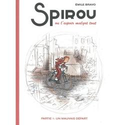 Album d'Émile Bravo Spirou l'Espoir malgré tout, un mauvais départ T14 HC (2018)