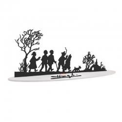 Escultura de colección en metal Tintín Felices Fiestas 46230 (2007)