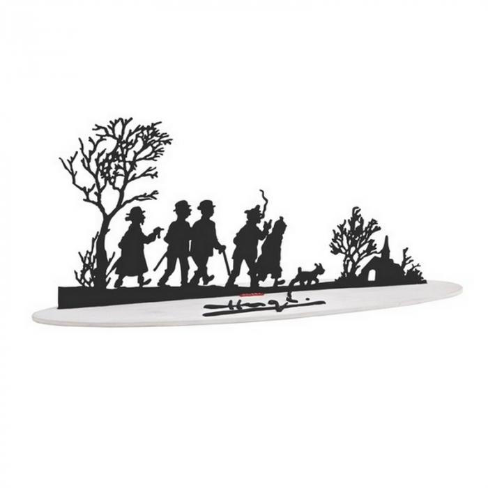 Sculpture de collection en métal des personnages de Tintin 46230 (2007)