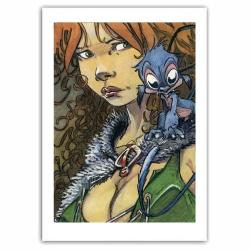 Poster affiche Loisel, Quête de l'Oiseau du Temps, Pelisse et Fourreux (50x70cm)