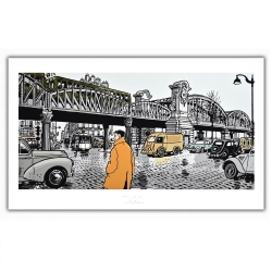 Poster offset Tardi Nestor Burma, Paris 18th arrondissement (60x35cm)