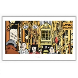 Poster offset Tardi Nestor Burma, Paris 2th arrondissement (60x35cm)