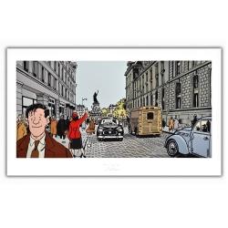 Póster cartel Tardi Nestor Burma, III Distrito de París (60x35cm)