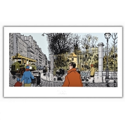 Poster offset Tardi Nestor Burma, Paris 6th arrondissement (60x35cm)