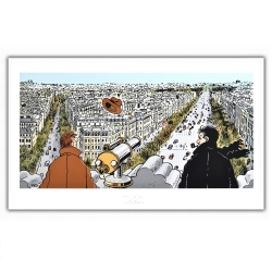 Poster offset Tardi Nestor Burma, Paris 8th arrondissement (60x35cm)