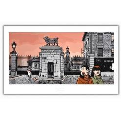 Poster affiche Tardi Nestor Burma, XVème arrondissement de Paris (60x35cm)