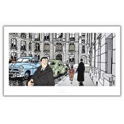 Poster affiche Tardi Nestor Burma, XVIème arrondissement de Paris (60x35cm)