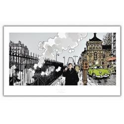 Poster affiche Tardi Nestor Burma, XVIIème arrondissement de Paris (60x35cm)