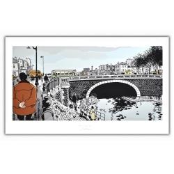 Póster cartel Tardi Nestor Burma, 4ª portada (60x35cm)