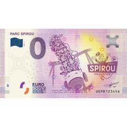 Billet de banque 0 Euro Souvenir Parc Spirou Provence Nº02 (2020)