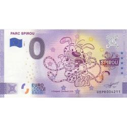Billet de banque 0 Euro Souvenir Parc Spirou Provence Marsupilami Nº01 (2020)
