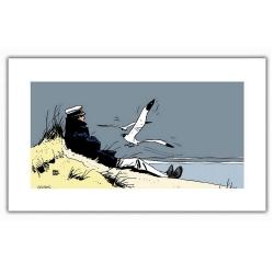 Poster affiche offset Corto Maltese, Marin (50x25cm)
