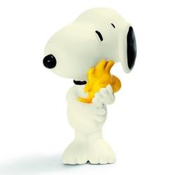 Figura Schleich® Peanuts, Snoopy con Woodstock (22005)