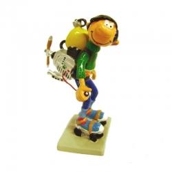 Figura de colección Pixi Tomás el Gafe Motor sobre patines 4706 (1997)