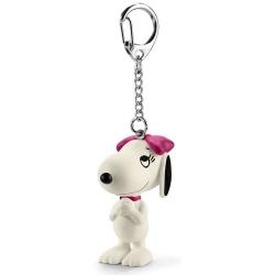 Porte-clés figurine Schleich® Peanuts Snoopy, Belle (22038)
