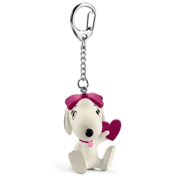 Peanuts Schleich® keyring chain figurine Snoopy, Belle with heart (22037)