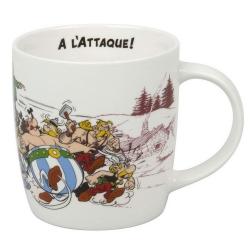 Taza mug Könitz en porcelana Asterix y Obelix (A l'attaque !)