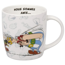 Taza mug Könitz en porcelana Asterix y Obelix (Nous sommes amis...)