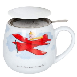 Tasse mug thé Könitz en porcelaine Le Petit Prince (Avion FR)