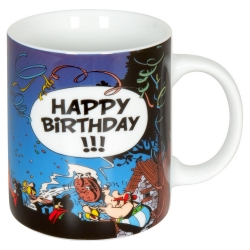 Taza mug Könitz en porcelana Asterix y Obelix (Happy Birthday !!)