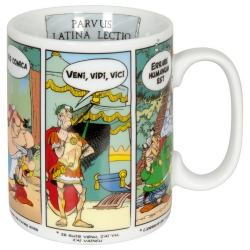 Tasse mug Könitz en porcelaine Astérix et Obélix (Phrases en Latin)