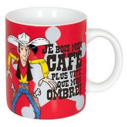 Tasse mug Könitz en porcelaine Lucky Luke (Je bois mon café plus vite...)