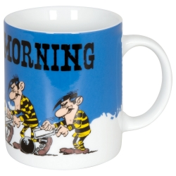 Taza mug Könitz en porcelana Lucky Luke, Los Hermanos Dalton (Monday Morning)