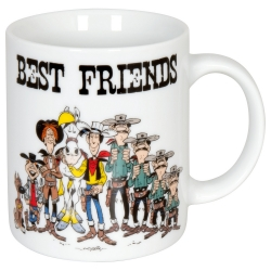 Taza mug Könitz en porcelana Lucky Luke (Best Friends)