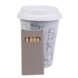 Taza mug de café para llevar y colorear Könitz El Principito