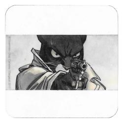 Blacksad Coaster 10x10cm (John Blacksad shooting)