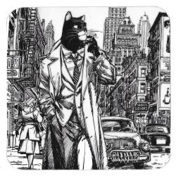 Blacksad Coaster 10x10cm (New York)