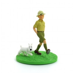 Collectible box scene figure Tintin explorer Moulinsart 43100 (2011)
