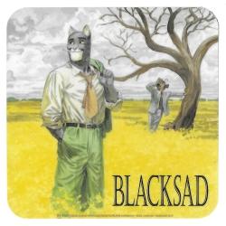Posavaso Blacksad 10x10cm (Amarillo)